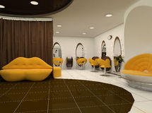 Interior of luxury beauty salon. Workplaces Royalty Free Stock Image