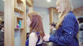 Interior of luxury beauty salon stock video footage