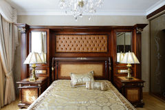 Interior of a luxury bedroom Royalty Free Stock Image