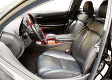 Interior of a luxury car Royalty Free Stock Photos