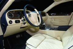 Interior of a luxury car Royalty Free Stock Image