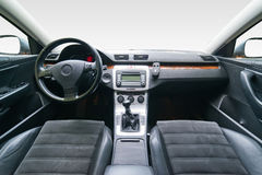 Interior of luxury car Stock Photos