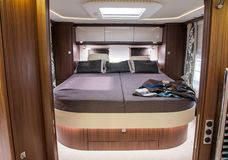 Interior of luxury caravan stock photo