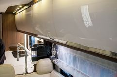Interior of luxury caravan royalty free stock images