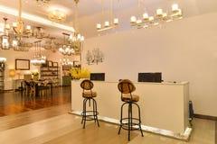 Luxury lighting shop Stock Photo