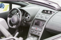 Interior of the Luxury Coupe Sportcar Stock Images