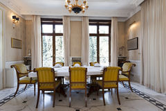 Interior of a luxury dinning room Royalty Free Stock Photography
