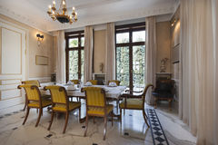 Interior of a luxury dinning room Stock Images