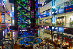 Interior of luxury Evropejskij mall in the city centre Royalty Free Stock Image