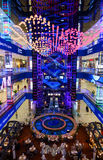 Interior of luxury Evropejskij mall in the city centre Royalty Free Stock Photo
