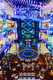 Interior of luxury Evropejskij mall in the city centre Royalty Free Stock Images