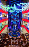 Interior of luxury Evropejskij mall in the city centre Stock Photos