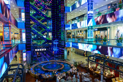 Interior of luxury Evropejskij mall in the city centre Stock Photography
