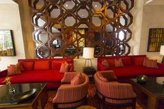 Interior of luxury five stars hotel in Bogota, Colombia Royalty Free Stock Images