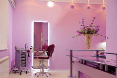 Interior of luxury hair salon Stock Image