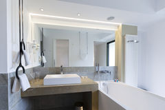 Interior of a luxury hotel bathroom Royalty Free Stock Photo