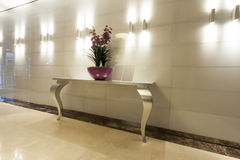 Interior of a luxury hotel hallway Stock Images