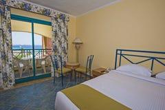 Interior of a luxury hotel room with balcony Stock Photos