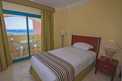 Interior of a luxury hotel room with balcony Stock Image