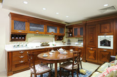 Interior of a luxury kitchen Stock Photos