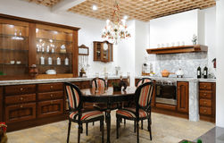 Interior of a luxury kitchen Stock Image