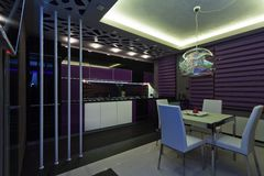 Interior of a luxury kitchen Stock Images