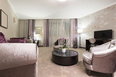 Interior of a luxury living room Royalty Free Stock Images