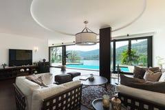 Interior, luxury living room stock photography