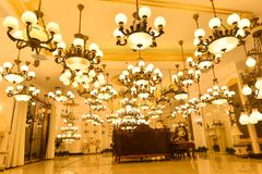 Luxury marble lighting shop Royalty Free Stock Photography