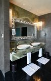 Interior of the luxury modern bathroom royalty free stock photography