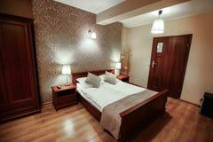 Interior of luxury modern hotel room Royalty Free Stock Photos