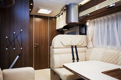 Interior of Luxury Motorhome Royalty Free Stock Photography