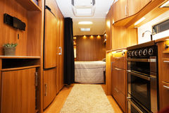 Interior of Luxury Motorhome Royalty Free Stock Images
