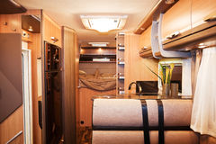 Interior of Luxury Motorhome. New Interior of Luxury Motorhome Royalty Free Stock Photography