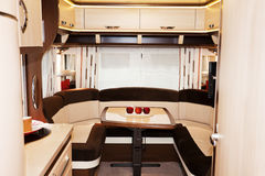 Interior of Luxury Motorhome. New Interior of Luxury Motorhome Royalty Free Stock Image