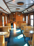 Interior of luxury old train carriage Royalty Free Stock Images