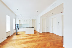 Interior of the luxury prestige apartments with luxurious kitchen. Stock Photography