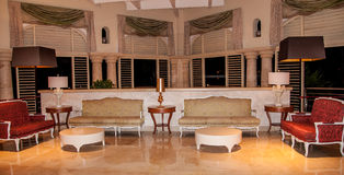 Interior of a Luxury Resort Royalty Free Stock Photography
