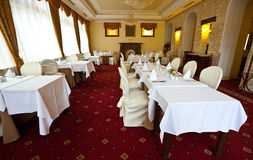 Interior of luxury restaurant Stock Photography