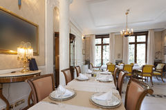 Interior of a luxury restaurant Royalty Free Stock Photography