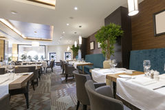Interior of a luxury restaurant Stock Photo