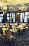 Interior in luxury restaurant Stock Photo