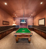 Interior, luxury room with pool table Stock Image