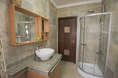 Interior of a luxury show home bathroom Stock Image