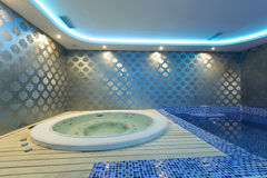 Interior of a luxury spa center Royalty Free Stock Photo