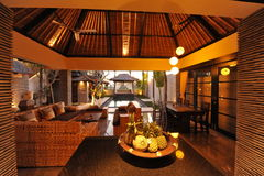 Interior of luxury tropical villa Royalty Free Stock Photos