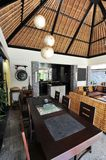 Interior of luxury tropical villa. / lounge area royalty free stock image