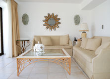 Interior of the luxury villa Royalty Free Stock Image