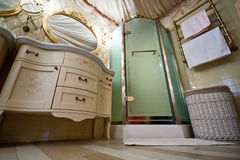 Interior of luxury vintage bathroom Stock Photo