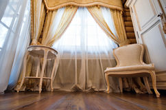 Interior of luxury vintage bedroom Stock Photos